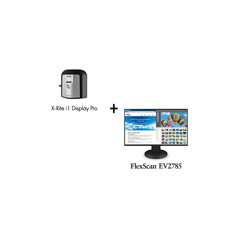 Pack Ecran FlexScan EV2785 avec Sonde de calibration X-Rite Eye One Display Pro