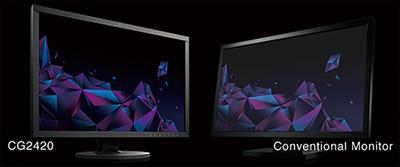 affichage des noirs profonds écran graphique eizo coloredge cg2420