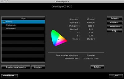 logiciel de calibrage écran graphique eizo coloredge cg2420