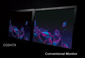 affichage des noirs profonds écran graphique eizo coloredge cg247x