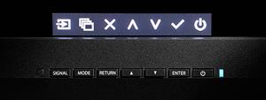 menu d'affichage boutons façade avant écran graphique eizo coloredge cg247x
