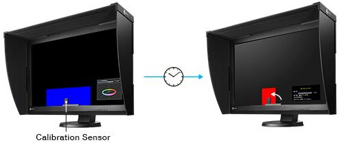 sonde de calibration intégrée écran graphique eizo coloredge cg247x