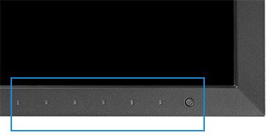 boutons en façade avant écran graphique eizo coloredge cg2730