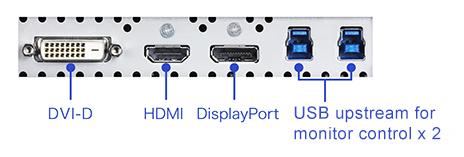 connectique écran graphique eizo coloredge cg2730