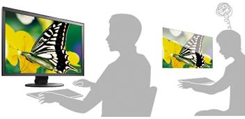 dalle anti-reflets écran graphique eizo coloredge cg2730
