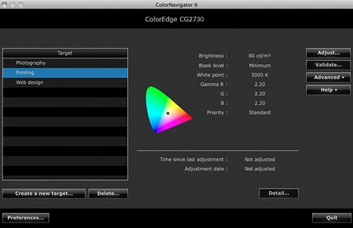 logiciel de calibrage associé écran graphique eizo coloredge cg2730