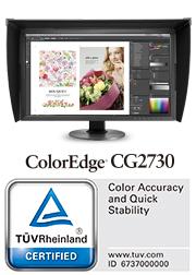 logo TUV écran graphique eizo coloredge cg2730
