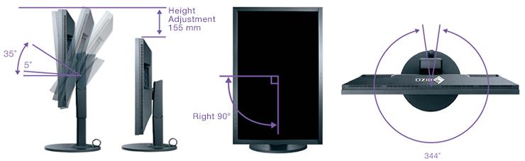 support ergonomique écran graphique eizo coloredge cg2730