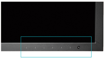 boutons façade avant écran graphique eizo coloredge cs2420