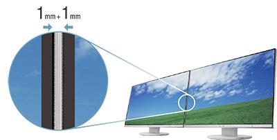 design sans bords écran bureautique eizo flexscan ev2450