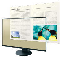 réduction lumière bleue écran bureautique eizo flexscan ev2451
