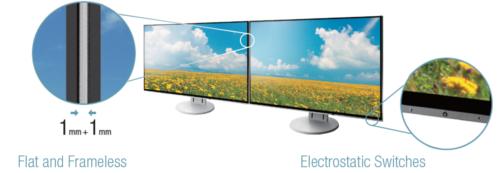 écran sans bords plat écran bureautique eizo flexscan ev2456