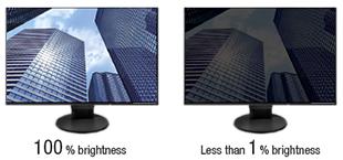réglage faible luminosité écran eizo flexscan ev2456