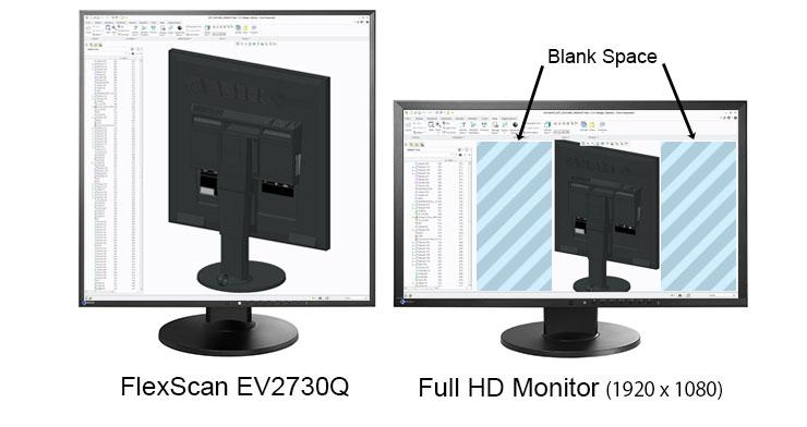 affichage 3D et CAD écran bureautique eizo ev2730q