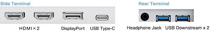 connectique écran bureautique eizo flexscan ev2785