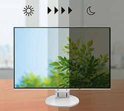 Adaptation de la luminosité automatique écran bureautique eizo flexscan ev2785