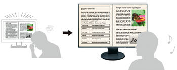 mode paper pour réduction de la lumière bleue écran bureautique EIZO Flexscan EV2785