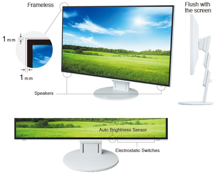 Nouveau design sans bords écran bureautique EIZO Flexscan EV2785