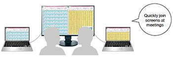 découpage de l'affichage écran bureautique eizo flexscan ev2785