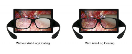 lunette 3D antibuée écran bloc opératoire eizo curator ex3220