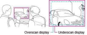 fonction underscan écran vidéosurveillance eizo duravision fds1903