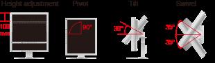 support ergonomique écran vidéosurveillance fds1903