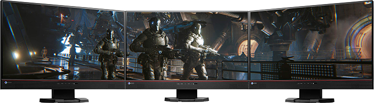 configuration multiécran écran gaming eizo foris fs2434
