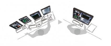 gestion centralisée écran clavier et souris eizo lmm0804