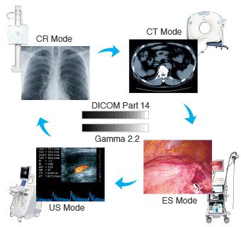 multi-modalité mode idéal pour chaque utilisation écran médical EIZO Radiforce RX250