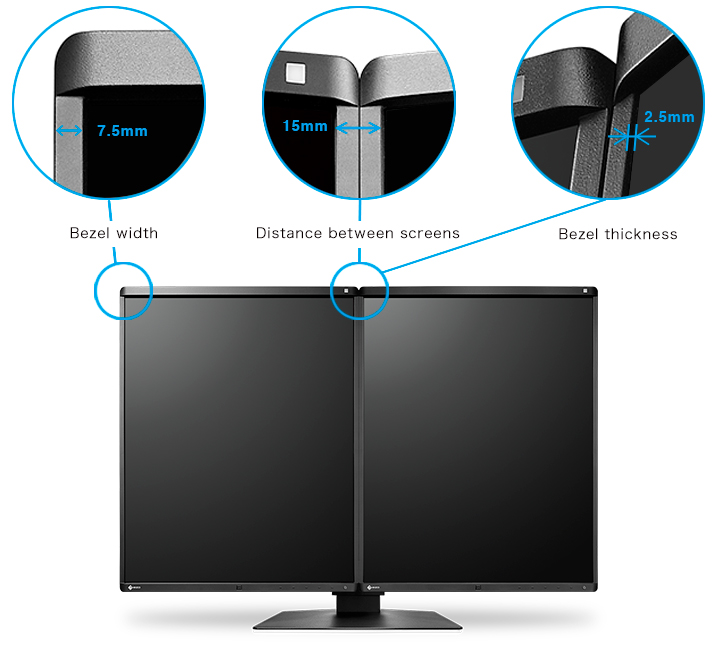 bords extra fins écran médical EIZO Radiforce RX560