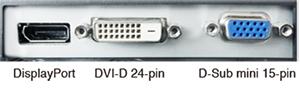connectique écran bureautique eizo flexscan s1934