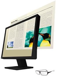 réduction lumière bleue écran bureauitque eizo flexscan s1934