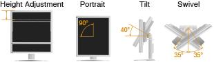 support ergonomique écran bureautique eizo flexscan s2133