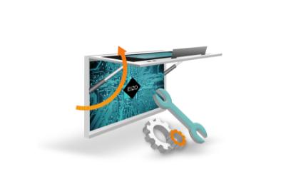 facilité de maintenance et de service écran bloc opératoire eizo sp1-24