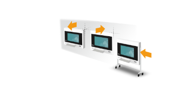 différentes options de montage écran bloc opératoire eizo curator sp1-42