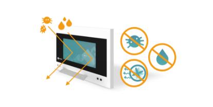 imperméable eau et poussière écran bloc opératoire eizo curator sp2-24